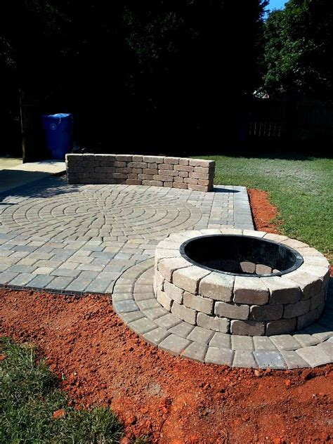 paver pit plans outdoor pit pavers and