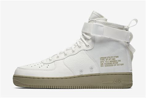 Nike Sf Af 1 Mid White nike sf af1 mid ivory neutral olive release date sneaker bar detroit