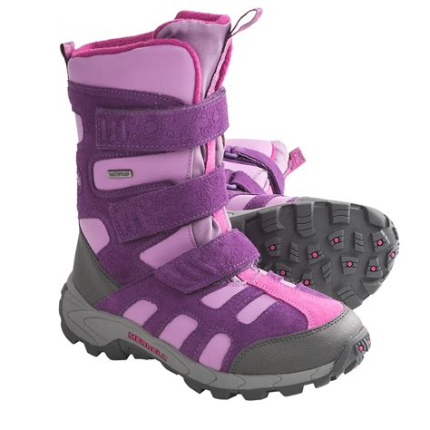 kid snow boots merrell moab polar snow boots waterproof insulated for