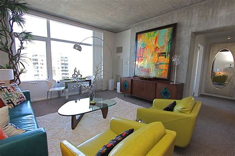 Mid Century Modern Living Room Ideas - contemporary mid century modern condominium vacation
