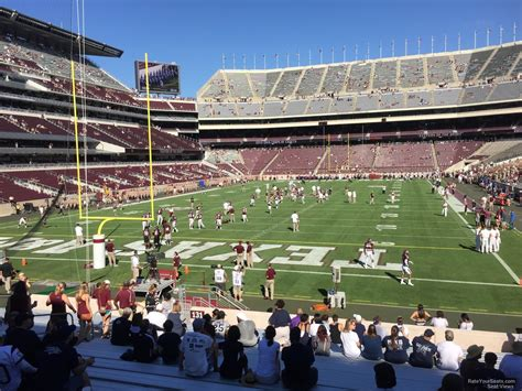 kyle field visitor section kyle field section 131 rateyourseats com