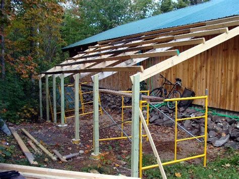 build  mono pitch shed roof alexandria bonker