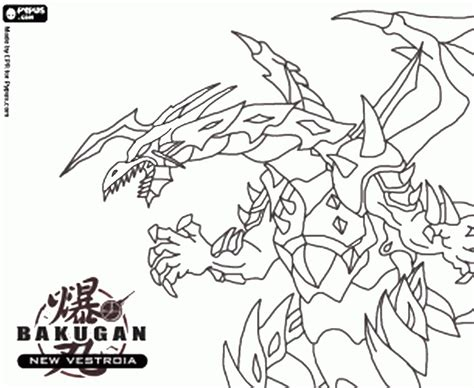 bakugan coloring pages free coloring pages of bakugan battle brawlers new vestroia