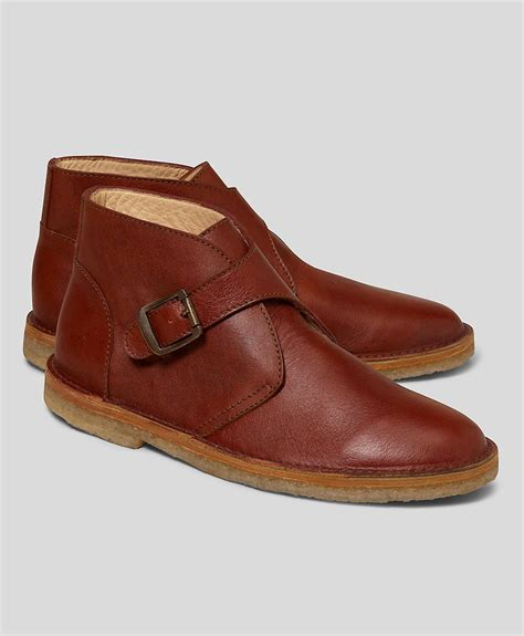 monk boots brothers leather monk desert boots in brown