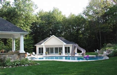 backyard pool houses pin by travel on other pinterest