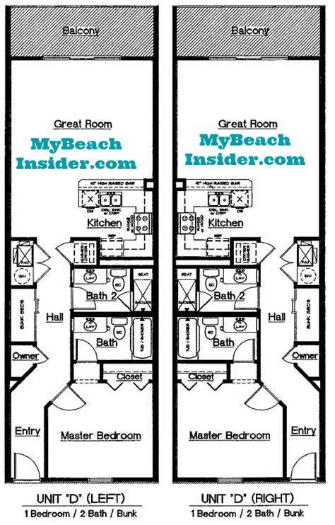 bunk room floor plans celadon beach resort condo floor plans panama city beach