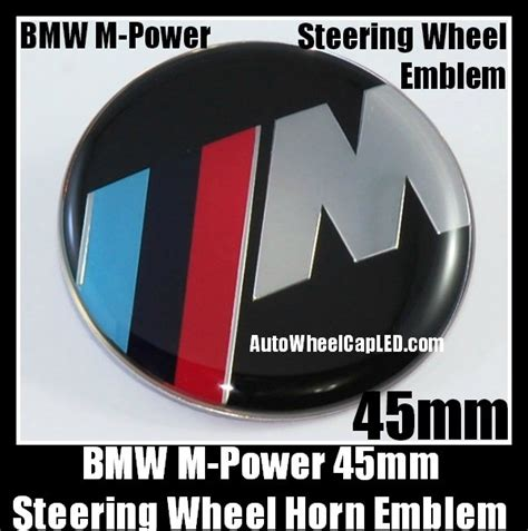 Emblem Stir Bmw M Power 45mm bmw m power steering wheel horn emblem roundel 45mm blue