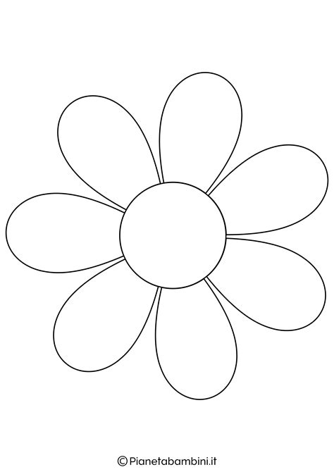 81 sagome di fiori da colorare e ritagliare per bambini