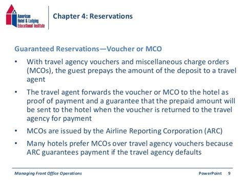 Guarantee Letter For Vacation Chapter 4 Reservations