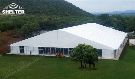 tent building arched tent with sun blocking layer and radian roof for