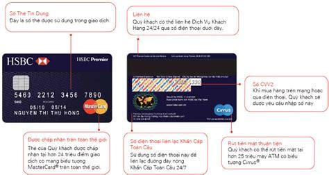 thẻ t 237 n dụng hsbc premier mastercard hsbc