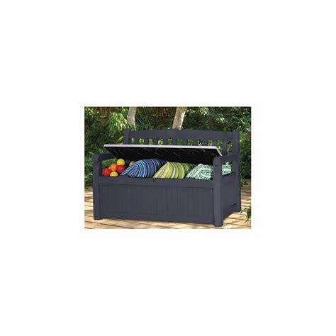 banc de jardin en pvc avec coffre rangement