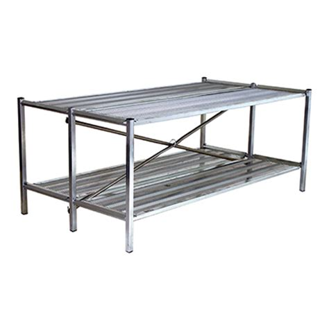 metal greenhouse benches double bench display 3 foot multi tiered metal display
