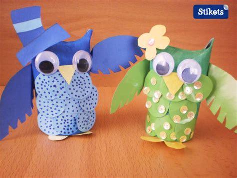 como hacer buhos de carton con papel higienico buhos con rollos de papel higienico como hacer