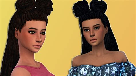 sims 4 female braids my sims 4 blog box braid buns and only braids hair