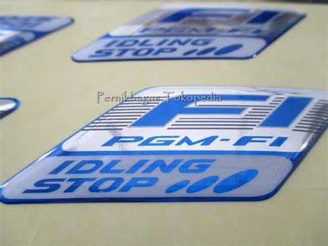 Emblem Logo Simbol Honda Fi Pgm Fi Original jual stiker emblem pgm fi fi iss idling stop logo 100 original hgp honda pernik bagus