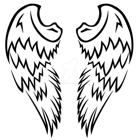 tribal wing tattoo designs tribal wings design by wearwolfclothing on