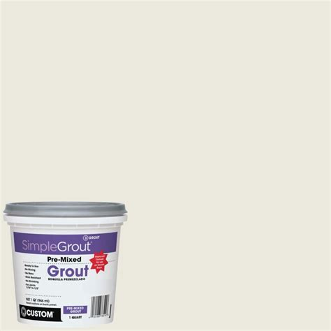 custom building products simplegrout 381 bright white 1