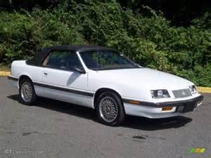 1989 Chrysler Lebaron Convertible Value Bright White 1989 Chrysler Lebaron Gtc Turbo Convertible