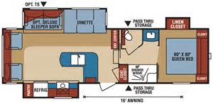 durango 5th wheel floor plans durango 1500 d277rlt half ton towable fifth wheel k z recreational vehicles