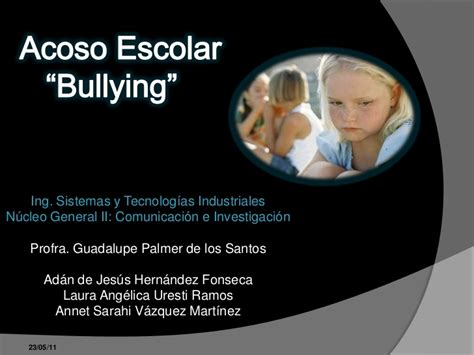 acoso escolar bullying slideshare acoso escolar bullying 1