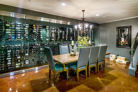 Wine cellar in kitchen floor wine cellar contemporary with wine storage glass wall