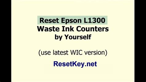 reset key l1300 reset epson l1300 waste ink counters with wic reset