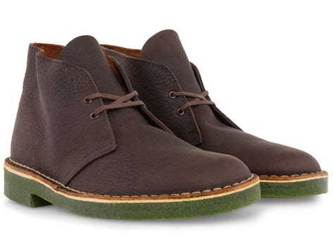 Clarks Leather Sol Leather clarks originals desert boot brown leather green sole 67537 new in box ebay
