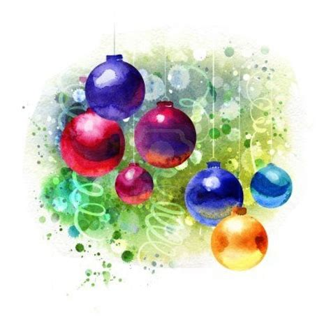 christmas watercolor paintings google search art