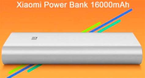 Xiaomi Mi Powerbank 16 000 Mah power bank la bater 237 a externa de xiaomi de 16 000 mah mobility