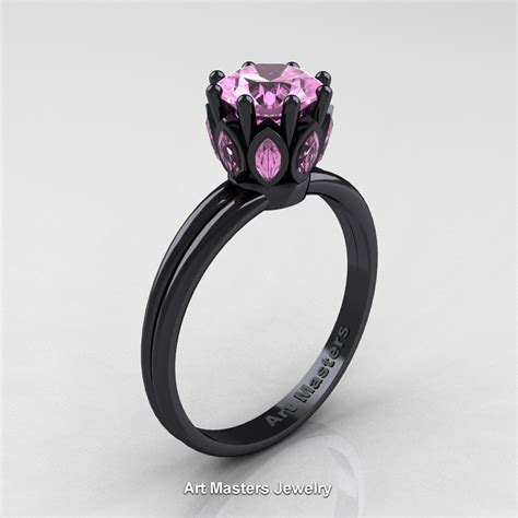 classic 14k black gold marquise 1 0 ct light pink