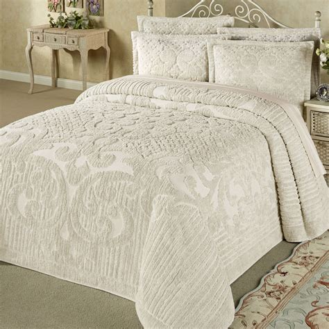 cotton bed comforters ashton lightweight cotton chenille bedspread bedding