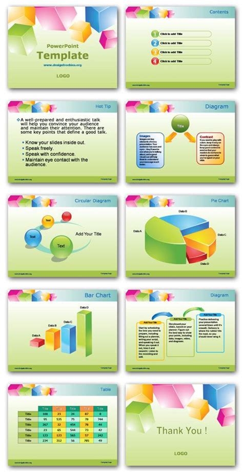 Free Powerpoint Template Preview All Pages Http Www Designfreebies Org Design Templates Free Powerpoint Design Templates 2007