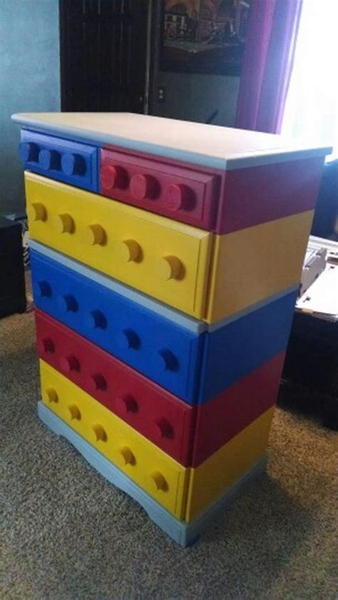 diy lego table with drawers how to build a lego themed dresser diy projects for everyone