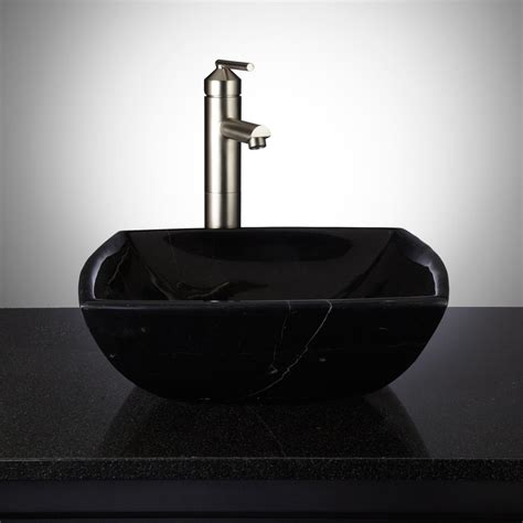 Black And White Vessel Sink by Hestia Black Marble Vessel Sink Vessel Sinks Bathroom