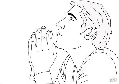 imagenes de mujeres orando para colorear praying man coloring page free printable coloring pages