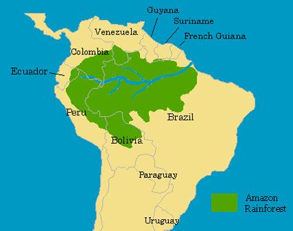 amazon map amazon rainforest credit enviro map com the amazon