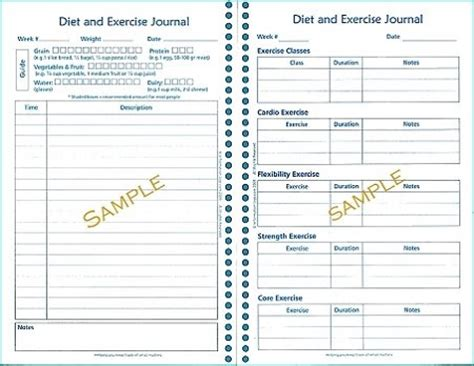diet and exercise journal template never diet again fruit
