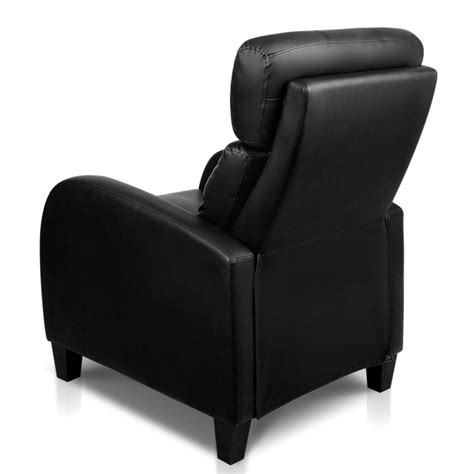 adjustable armchair faux leather adjustable armchair recliner in black buy