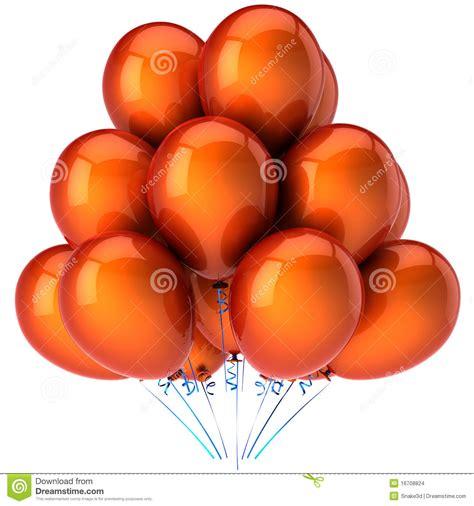 up a balloon with orange orange helium balloons hi res stock illustration