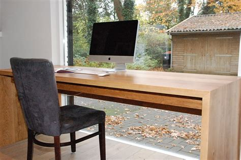 massief eiken bureau kien met hout