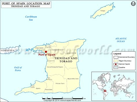 world map and tobago the island of trindad tobago
