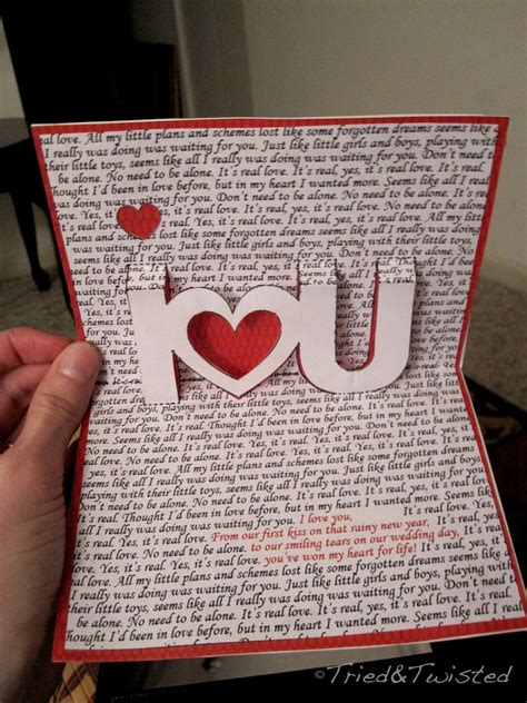 how to make a pop up valentines card 80 diy day card ideas