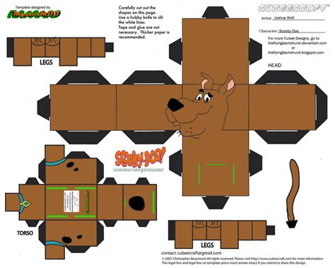 Paper Crafts Pdf - sd1 scooby doo cubee by theflyingdachshund on deviantart