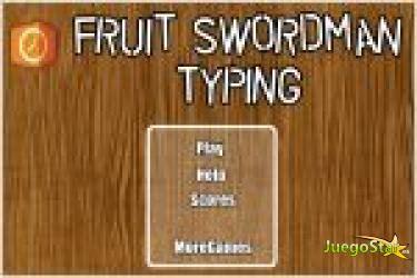 fruit typing juego fruit swordman typing frutas de palabras jugar