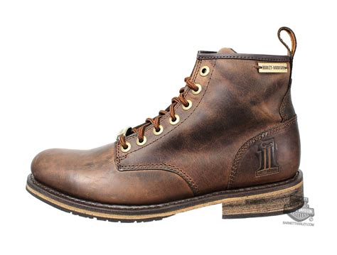 brown leather harley boots 93192 harley davidson 174 mens darrol brown leather low cut