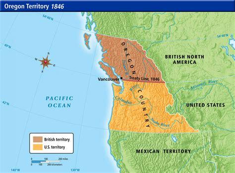 map of oregon territory 1846 us history maps
