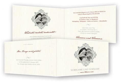 Beschriftung Hochzeitskarte by Hochzeit Einladungskarten Feinekarten