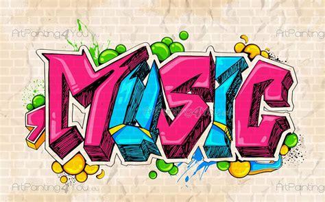 poster mural papier peint musique graffiti tag