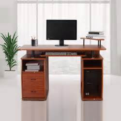 bureau meuble informatique table d ordinateur 2 grands